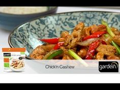 Delicious gardein chick'n with cashews, peppers, onions and garlic in a rich Asian-inspired sauce.