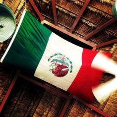 Enjoying the Mexican flag in Mexico!