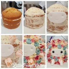 Easy buttercream flower sheep lamb cake step by step tutorial