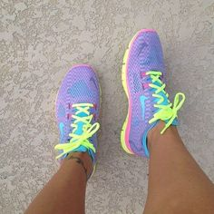 I'm not a huge fan of neon gym shoes but I would definitely wear these for a run