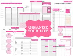 Get Organized - Organizer Printable Sheets  to do list  daily, weekly & monthly schedule  meal planner  project & goal sheets  passwords sheet  important contacts    from The Printable Party Shop  Tons of printables all in one place!   www.printablepartyshop.com