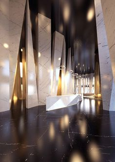 Curious? Access luxxu.net to find the best lighting inspirations for your new hotel lobby decoration project! Luxury and still modern lighting and furniture