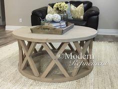gorgeous rustic round farmhouse coffee tablemodernrefinement