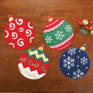 Holiday Ornament Christmas Table Linens - 40480