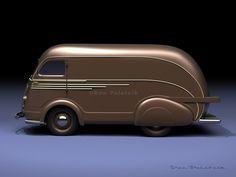 A Garagem Digital de Dan Palatnik | The Digital Garage Project: 1938 Automobile Truck by Clifford Brooks Stevens