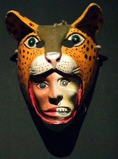 """""""We, all who live, have A life that is lived And another life that is thought, And the only life we have It's the one that is divided In right or wrong.""""   ― Fernando Pessoa  Contemporary Mexican folk mask, human-jaguar,  National Museum of Anthropology, Mexico City"""
