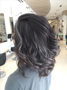 Dark Brunette Hair, Dark Hair, Silver Grey Hair, Mom Hairstyles, Haircut And Color, Light Hair, Hair Colors, Hair Goals, New Hair