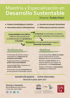 FLACAM   MAESTRÍA Y ESPECIALIZACIÓN EN DESARROLLO SUSTENTABLE  La Red de Universidades y ONGs de Latinoamerica y España, FLACAM, abre la inscripción a la maestría que iniciará el próximo 7 de mayo de 2017.  Más info: http://ly.cpau.org/2m1xRvP  #AgendaCPAU #RecomendadoARQ