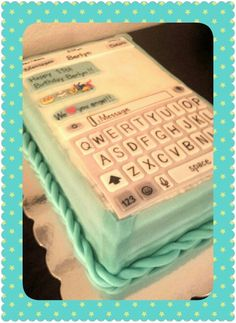 Popular iPhone cake by Kims Kakes!  Note the 3-D emojis detail made from homemade marshmellow fondant!!!  Moist french vanilla cake w strawberry compote!  Message me...
