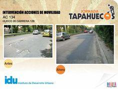 Intervención Acciones de Movilidad en la Calle 134 con Carrera 12 B. #TapaHuecos