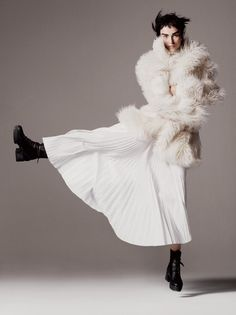 Stepping out in #FurFreeFur from #Winter15, as seen in the October issue of @voguemagazine #StellasWorld