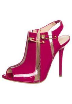 Høye hæler med åpen front - pink