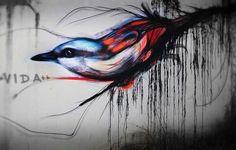 graffiti birds street art / Luis Seven Martins Bird Street Art, Street Art Graffiti, Beautiful Graffiti, Urban Painting, Graffiti Artwork, Bird Artwork, Lombok, 10 Picture, Arte Popular
