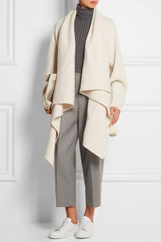 ALEXANDER MCQUEEN Draped wool and cashmere-blend cardigan $2,165