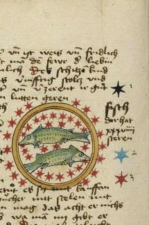 """""""Pisces"""", Ms Ludwig XII 8, f°56v"""