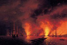 Ivan Aïvazovski, Bataille navale russo-turque de Sinope, 1853