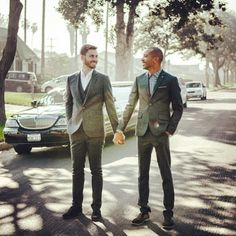 @_drewblackwell_2 and his husband wore Ted Baker for their wedding