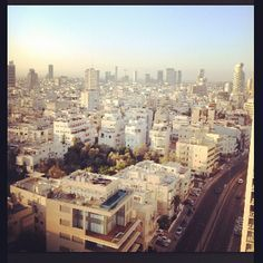 Taste of Israel: Day 2 - Tel Aviv is also known as the White City and refers to a collection of over 4,000 white international style buildings or Bauhaus built from the 1930s. Other global cities have Bauhaus buildings but Tel Aviv has the largest number of buildings in this style in the world.
