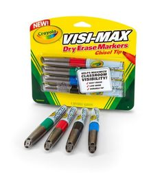 Crayola Visi-Max Dry-Erase Markers Classroom Supplies, Classroom Organization, Organization Hacks, School Supplies, Future Career, Black Neon, Classroom Inspiration, Dry Erase Markers, Pen Sets