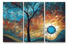 Aqua Burn Metal Wall Art - Tree, Floral & Branch