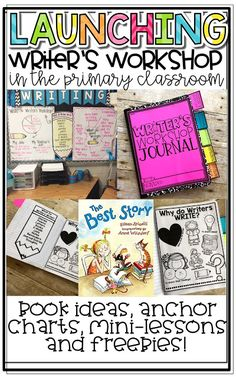 Launching Writer's Workshop in the Primary Classroom Launching Writer's Workshop in the Primary ClaYou can find Writing wor. Launching Writers Workshop, Readers Workshop, Writer Workshop, Writers Workshop Notebook, Workshop Ideas, First Grade Classroom, Primary Classroom, Classroom Ideas, Future Classroom
