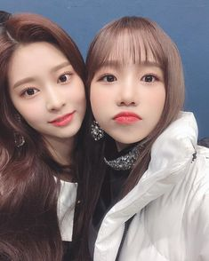 Image may contain: 2 people, selfie and closeup Honda, Yu Jin, Cute Hamsters, Japanese Girl Group, Ulzzang Couple, Kim Min, Extended Play, The Wiz, Pop Group