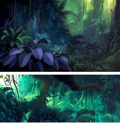 Road to El Dorado backgrounds // background art