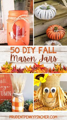 Fall Arts And Crafts, Autumn Crafts, Holiday Crafts, Diy And Crafts, Decor Crafts, Fall Mason Jars, Mason Jar Gifts, Mason Jar Diy, Thanksgiving Diy