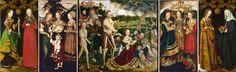 Lucas Cranach, The Martyrdom of Saint Catherine of Alexandria, click 3x for close-up