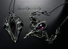 Jewelry by Lunarieen UK - silver , amethyst by LUNARIEEN on DeviantArt
