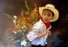 """Autor... Carlos Martinez Palomino Tecnica ..Óleo sobre lienzo 1 m x 0,70 cm Titulo..""""Silleterito"""""""