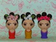 #Frida_Kahlo Wood Doll $45.00