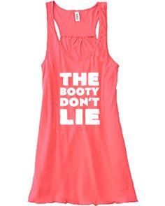 The Booty Don't Lie Tank Top - Crossfit Shirt - Workout Shirt - Funny Crossfit Clothes For Women