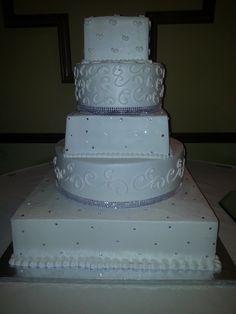 Calumet Bakery Silver And White Fondant Bow Cupcake Wedding Display Cakes Weddings Cake