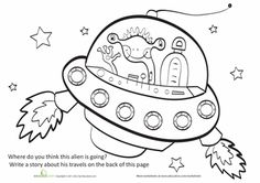 Worksheets: Story Starter: Traveling Alien