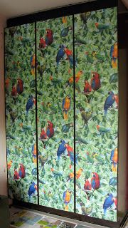Wallpaper wardrobe doors