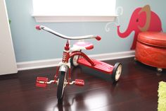 Animal wall art + tricycle
