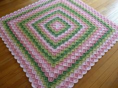 Bavarian Crotchet Baby Blanket...I may have pinned this already but I really lov e the colors
