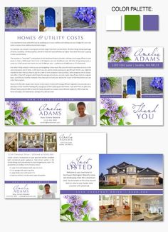 """Lilac Layout"" joines Instant Identity #branding collection with its clean lines and relaxing imagery."