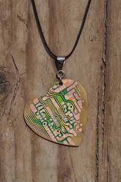 heart necklace from PC circuit