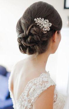 wedding hairstyle: Glamorous Bijoux via Etsy