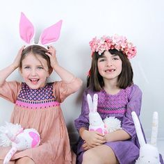 Happy Easter 🐇Some bunny lost her two front teeth. #easter #nellystella dresses // poppyscloset.com