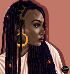 Black and beauty❤🔥😘 Black Love Art, Black Girl Art, My Black Is Beautiful, Black Girl Magic, Black Girls, Art Girl, Black Women, African American Art, African Art
