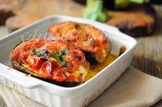 Melanzane alla siciliana ripiene, ricetta veloce, contorno facile, piatto unico, idea per per cena, pranzo, ricetta sfiziosa, economica, estiva, idea semplice