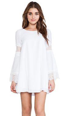 For Love & Lemons Festival Dress in Off White