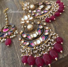 India Jewelry, Ethnic Jewelry, Antique Jewelry, Jewelry Sets, Antique Necklace, Indian Jewellery Design, Jewelry Design, Indian Accessories, Jewelry Accessories