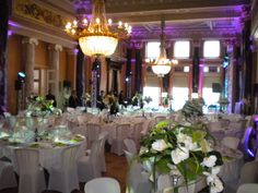 Amazing wedding dinner at Hôtel des Trois Couronnes! Banquet, Table Settings, Events, Amazing, Wedding, Valentines Day Weddings, Table Top Decorations, Mariage, Weddings