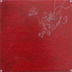 Minuzien Acrylic, ink, resin on wood 30 x 30 cm 2015