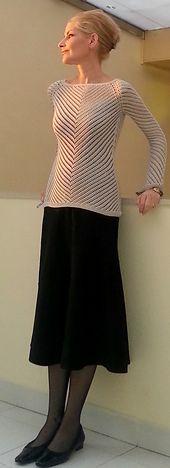 Ravelry: V lace pattern by Jenny Faifel