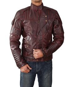 Guardians of the Galaxy Vol 2 Leather Jacket l Guardians of the Galaxy Jacket: Amazon.co.uk: Clothing